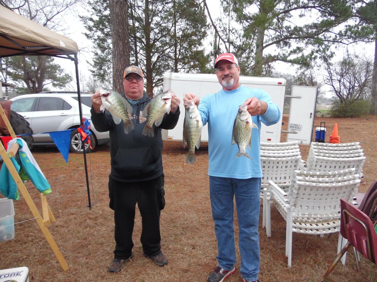 Crappie anglers of texas 2017 01 cypress bob sandlin results for Lake bob sandlin fishing report