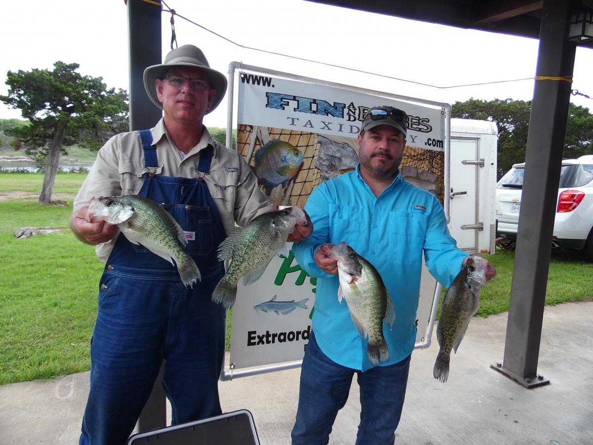Crappie anglers of texas 2017 03 lake belton results for Belton lake fishing